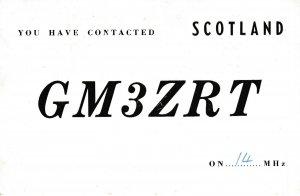 7421 Amateur Radio QSL Card  GALSTON SCOTLAND