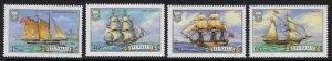 TUVALU SG377/80 1986 SHIPS MNH