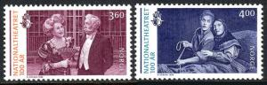 Norway 1238-1239, MNH. National Theater, cent. 1999