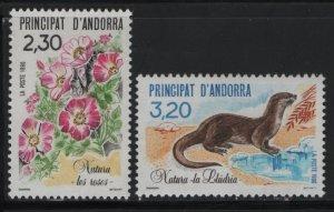 ANDORRA, 393-394, MNH, 1990, OTTOERS