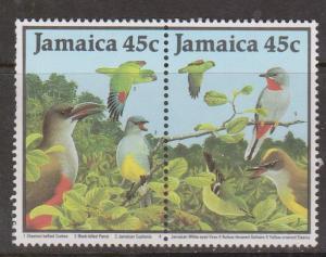 JAMAICA Scott # 680a Mint Hinged - Birds Some Gum Disturbance