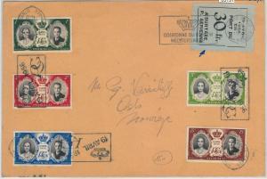 65131 -  MONACO - POSTAL HISTORY -  FDC COVER  - 1956 Royalty - AIRMAIL SURTAX
