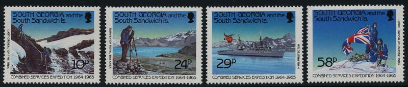 South Georgia 139-42 MNH Ship, Helicopter, Military