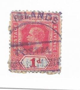 Gilbert & Ellice Islands #15 Used Purple Cancel! - Stamp - CAT VALUE $9.00++++++