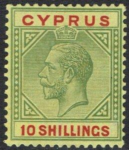 CYPRUS 1921 KGV 10/-
