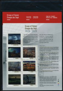 Canada new issue s/s in Pack MNH - Group of Seven, Paintings, Art