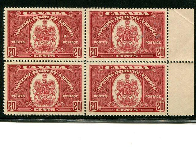 Canada #E8 block 4 Mint VF NH