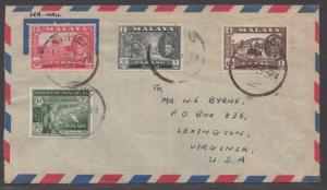 *Malaya/Perak/Pahang SC# 129, 130, 172, 90 Sea Mail To Virginia USA
