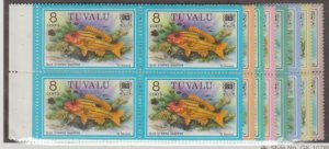 Tuvalu Scott #101-102//104-108A Stamps - Mint NH Booklet Pane Set