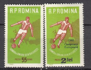 J27580 1962 romania set of 1 + ovpt mh #1474, 1510 sports