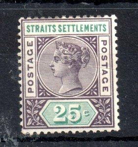 Straits Settlements QV 1892 25c SG103 mint MH WS14274