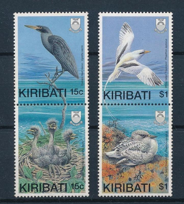 [53280] Kiribati 1989 Birds Vögel Oiseaux Ucelli with young light toned MNH