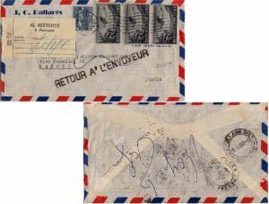 Cuba 1c Communications Building Postal Tax and 10c Airplane (3) 1955 Habana, ...