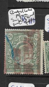 BRITISH CENTRAL AFRICA (P1901B)  KE 2/6  SG 64B PARCEL CANCEL VFU