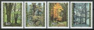 Liechtenstein 1980, The forest in the seasons set VF MNH, Mi 757-60 cat 5,5€