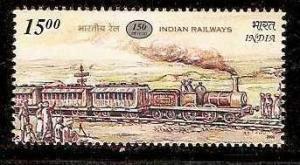 India 2002 Indian Railway Steam Locomotive Transports Train Sc 1952 MNH