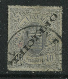 Luxembourg 1875 Official 10 centimes Inverted overprint used