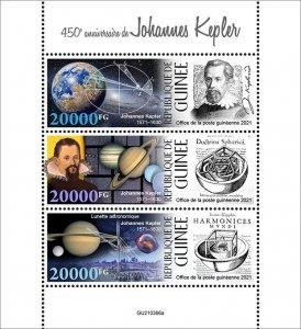 GUINEA - 2021 - Johannes Kepler - Perf 3v Sheet - Mint Never Hinged