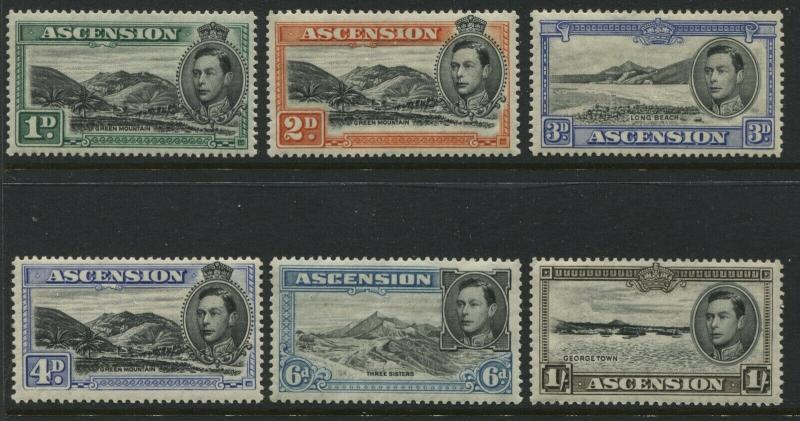 Ascension KGVI 1938-44 various values to 1/ mint o.g. all perf 13 1/2