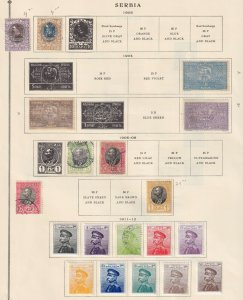SERBIA  INTERESTING COLLECTION ON ALBUM PAGES - Y345
