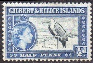 Gilbert & Ellice Islands 1956 ½d Great Frigatebird  MH