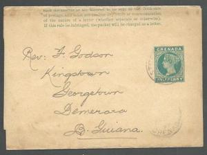 GRENADA 1899 ½d wrapper used St George's to Br Guiana......................61061