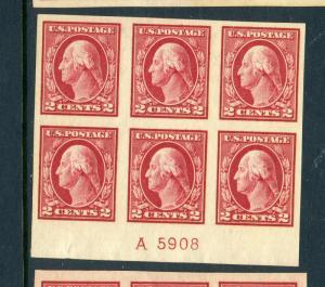 Scott #409 Washington Imperf  Mint Plate Block  (Stock#409-pb11)