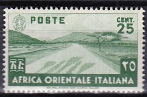 1938 Italian East Africa Scott 7 Desert Road MLH