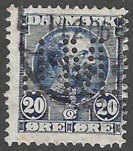 Denmark 66  Used  Perfin