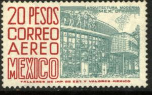 MEXICO C268 $20Pesos 1950 Def 4th Issue Fluorescent uncoated MNH