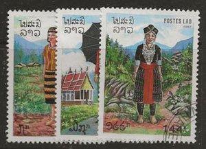 Nickel Auction. Laos 839-841 u