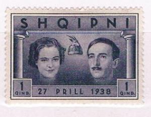 Albania 281 Unused Queen and King Zog 1938 (A0375)