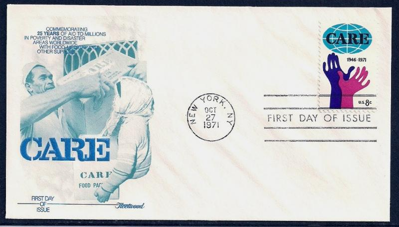 UNITED STATES FDC 8¢ CARE 1971 Fleetwood