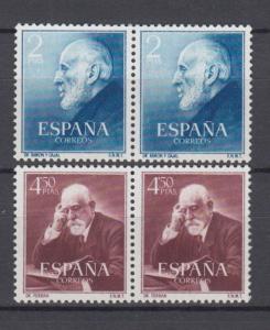 ESPAÑA 1952  Ed.1119/20**  Pareja  Cajal y Ferran  MNH.