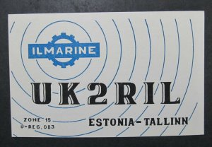 6398 Amateur Radio QSL Card Tallinn Estonia