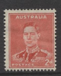 Australia - Scott 169 - KGVI -1937- MLH - Single - 2d stamp