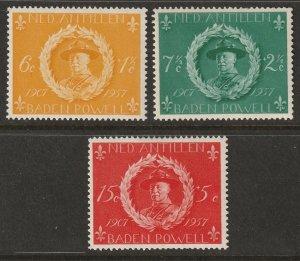 Netherlands Antilles 1957 Sc B28-30 set MLH*