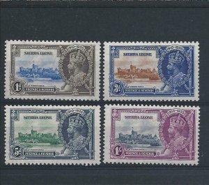 SIERRA LEONE 1935 SILVER JUBILEE SET MM SG 181/184 CAT £32