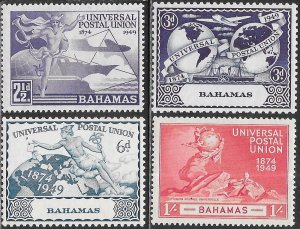 Bahamas 150-153 MNH - 75th Anniversary of UPU