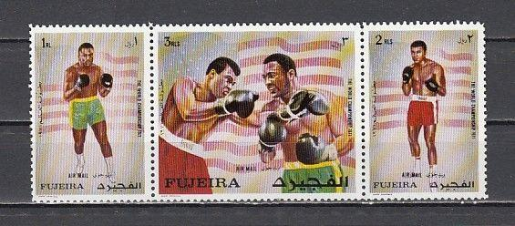 Fujeira, Mi cat. 689-691 A. Olympic Boxer, Mohammed Ali issue.