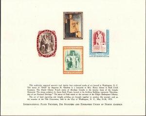 US 1973 International Plate Printers Union Souvenir Card