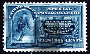 US STAMP BOB #E5 1895 10¢ Messenger Running Special Delivery USED
