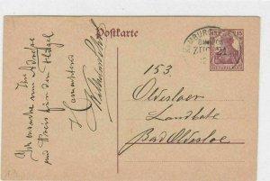 GERMAN POSTCARD HAMBURG CANCEL   REF 4989