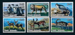 [29178] Cook Islands 1992 Wild Life Birds Penguins Lion Deer MNH