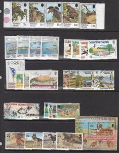 Solomon Islands Mint NH sets (Catalog Value $49.65)  [3R0217]