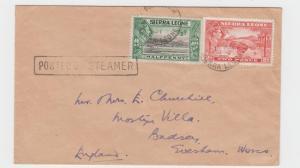 SIERRA LEONE -UK 1951 POSTED ON STEAMER 2½d  RATE (SEE BELOW)