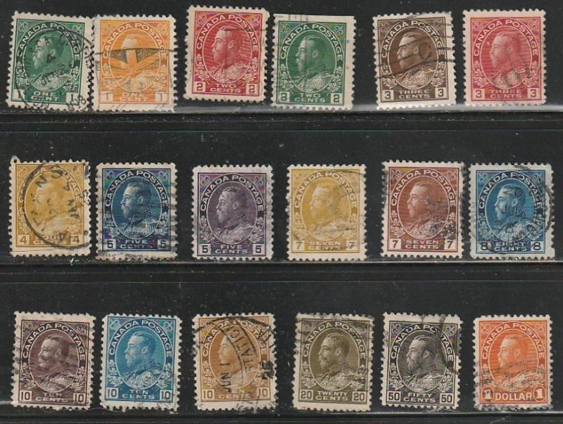 #104-122 Canada Used Admiral Set