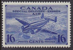 Canada 1942 Air Post Special Delivery 16c CE1 & 17c CE2 XF/NH/(**) Two Stamps.