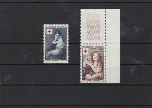france 1954 red cross fund  mnh  stamps set cat £40+  ref 7202