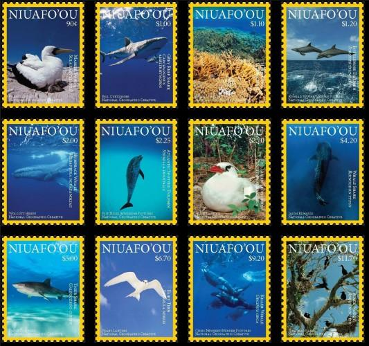 NIUAFO'OU - Ocean Wildlife - Perf 12v Set - MNH